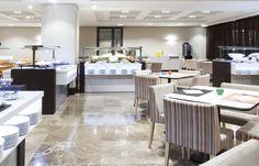 Restaurant and Public areas #NOVOTEL Madrid. Hospitality #lighting by LEDS-C4