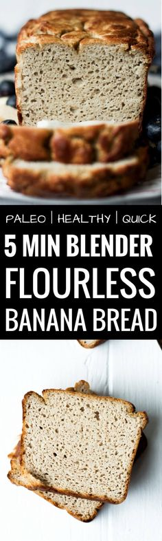 Paleo Blender Banan Bread is so tasty and has a perfect cut. The inside of this … Paleo Blender Banan Bread is so tasty and has a perfect cut. The inside of this grain free and paleo banana bread is light and smooth with soft banana taste Best Paleo Banana Bread Recipe, Gluten Free Bread Recipe Easy, Gluten Free Banana Bread, Easy Banana Bread, Gluten Free Recipes, Paleo Bread, Paleo Diet, Healthy Recipes, Delicious Recipes