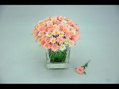 Jak zrobić stokrotki z bibuły # How to make paper flowers daisies DIY - YouTube
