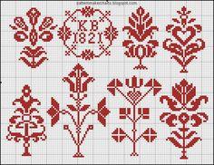 Free Easy Cross, Pattern Maker, PCStitch Charts + Free Historic Old Pattern Books Small Cross Stitch, Cross Stitch Borders, Cross Stitch Samplers, Cross Stitch Flowers, Cross Stitch Charts, Cross Stitching, Cross Stitch Patterns, Diy Embroidery, Cross Stitch Embroidery