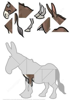 Jigsaw Puzzle with Donkey Puzzle games Maths Puzzles, Jigsaw Puzzles, Teaching Kids, Kids Learning, Teaching Spanish, Toddler Activities, Learning Activities, Free Printable Puzzles, Animal Puzzle