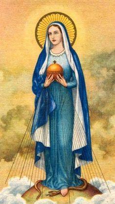 Sainte Personnage Marie mère de Dieu Madonna Rosa Mystica hauteur environ 12,8 cm