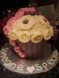 Someone special giant cupcake
