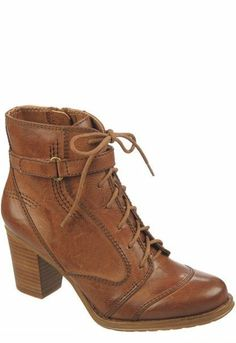 Heeled Lace-Up Ankle Boots <3