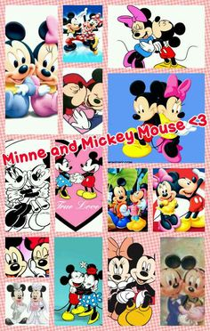 Minney and Mickey Mouse