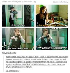 The Doctor and Clara Oswald, Whouffle moments in the christmas special