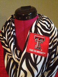 Texas Tech University infinity scarf on Etsy, $22.00