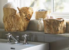 Troncos de madeira, o charme natural na hora de decorar