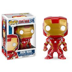 Funko Pop Captain America Civil War From Captain America Civil War, Iron Man, as a stylized POP vinyl from Funko! Stylized collectable stands 3 inches tall, perfect for any Marvel fan! Collect and display all Captain America Civil War Pop! Funko Pop Marvel, Iron Man Pop, Funko Pop Iron Man, Iron Men, Pop Vinyl Figures, The Witcher, Film Captain America, Captain America Civil War, Captain Marvel