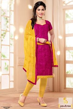 Be stylish lady look like in image with Akshara Heena Khan magenta and yellow salwar kameez online. It is graceful with beauteous magenta thread work.  http://www.pavitraa.in/store/partywear-salwar-suit/ #salwarsuits, #salwarkameez, #dresses, #designersalwarsuits, #straightsalwarsuits, #embroiderysalwarsuits, #wholesalecatalog, #churidarsuit, #plazo, #festivaloffer