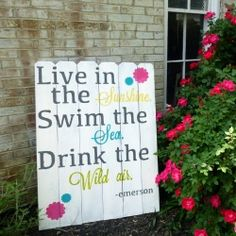 Create a large outdoor sign using inexpensive cedar fence boards.  Posted by designedbydawnnicole