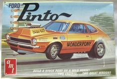 AMT '70 Ford Pinto model kit. I had this one as a kid - remember buying it at the Variety Store on North Ave. in my my hometown of Dunellen, NJ. They had these old ladies working there that would watch you from the time you walked in until you left. Good times....LOL!