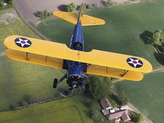 Boeing Stearman Model 75 Kaydet in U.S. Army Colors Photographic Print at AllPosters.com