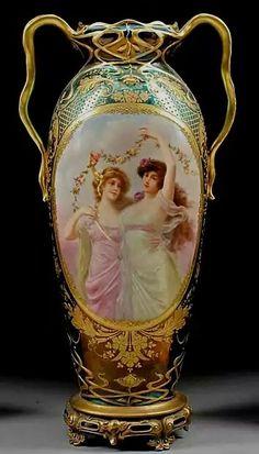Royal Vienna Porcelain Vase.