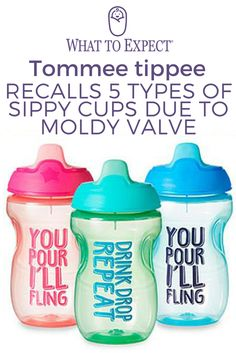 On Friday, the Consumer Product and Safety Commission announced a recall of 3.1 million affected cups due to 3,066 reports of moldy valves and at least 68 children sick with vomiting, diarrhea or another symptom. #sippycuprecall #whattoexpect | whattoexpect.com