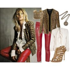 """""""Kate Moss (red leather pants!)"""""""