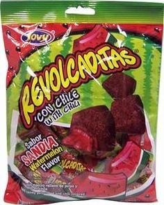 Jovy Revolcaditas W/Chili Watermelon Flavor Hard Candy Filled W/Soft Caramel Mexican Snacks, Mexican Candy, Mexican Food Recipes, Gourmet Recipes, Snack Recipes, Candy For Sale, Junk Food Snacks, Drinks Alcohol Recipes, Favorite Candy