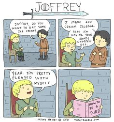 Game of Thrones - Joffrey he is a turd!