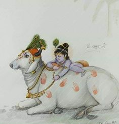 Krishna Lila, Little Krishna, Radha Krishna Love, Krishna Radha, Lord Krishna Images, Radha Krishna Pictures, Tanjore Painting, Krishna Painting, Pichwai Paintings
