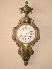 Редкий старинный французский japy freres позолоченная латунь настенные часы ca 1880s-полностью рабочая