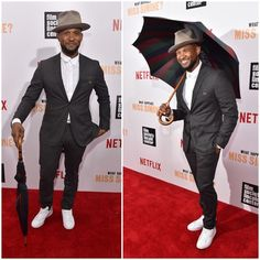 Usher-wearing-Alexandre-Plokhov-Overlap-Collar-Button-Shirt-and-Adidas-Stan-Smith-Sneakers-Shoes-11