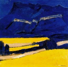 Bernard Cathelin Contemporary Landscape, Contemporary Paintings, City Landscape, Landscape Paintings, Spanish Painters, French Artists, France, Illustrations, Sculpture