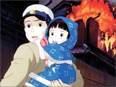 """Grave Of The Fireflies- [first lines]   Seita: """"September 21, 1945... that was the night I died."""""""