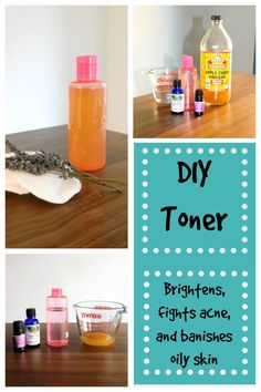 This facial toner is amazing! A simple and easy DIY Facial Toner recipe that clears acne, brightens skin, and controls oil.
