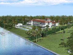 Artist Rending of Indian Creek lot for Sale 2 Indian Creek Dr. Indian Creek Village, FL - Miami