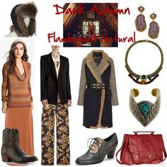 """""""Dark Autumn Flamboyant Natural"""" by thewildpapillon on Polyvore"""