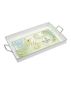 Take a look at this C.R. Gibson Flora & Fauna Metal Serving Tray by C.R. Gibson on #zulily today!