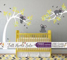 Sticker Mural Koala Ours de Koala dans larbre avec des
