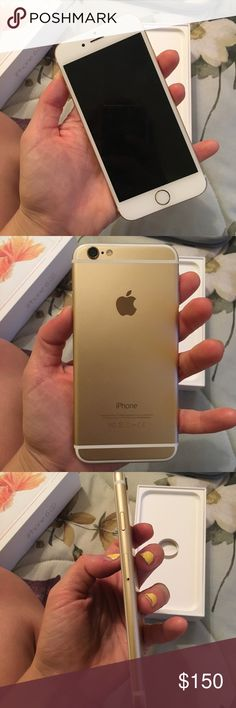 iPhone 6 - 64 GB 64 GB of storage Gold Color - NOT 6S, just using the box for it, no cracks or anything iPhone Accessories Phone Cases