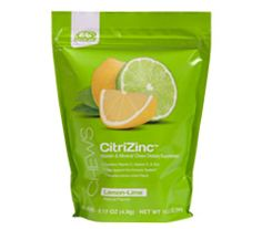 AdvoCare® CitriZinc™ easy to take chew with a lemon lime flavor. Supports immunity by providing three important nutrients: vitamin C, zinc, and vitamin D. Consume one to two chews daily. Children 8 and younger should not consume more than two chews per day.