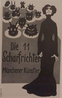 Die 11 Scharfrichter, Mûnchener Kûnstler by Alexisorloff, via Flickr Die Elf Scharfrichter war das erste politische Kabarett in Deutschland und eines der ersten deutschen Kabaretts überhaupt.  The Eleven Executioners, a Munich cabaret group.