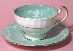 Vintage Aynsley Jade Green Teacup