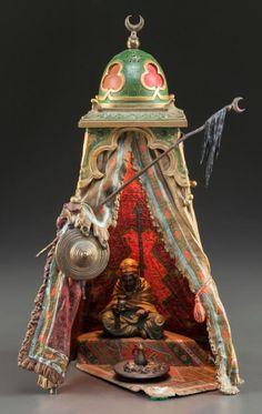 Bergman. Lanterne de bibliothèque orientaliste - le thé - recto.