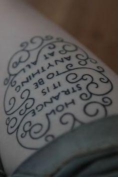 Alice in wonder land tattoo