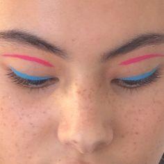 〰 @monki #cyan + #magenta | make up by anne sophie costa