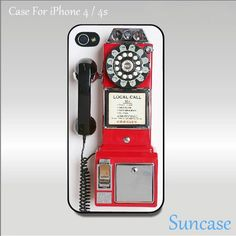 iphone 4 case, iphone 4S case, cute iphone 4 case--Vintage Payphone. $14.99, via Etsy.