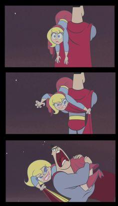 Super BFF's - Supergirl vs Superman Supergirl Dc, Batgirl, Dc Comics, Dc Super Hero Girls, Nerd Humor, Hilarious, Funny, Dc Universe, Harley Quinn