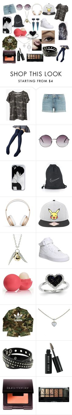 """""""#57"""" by spider-1505 on Polyvore featuring Ragdoll, Paige Denim, Monki, NIKE, Beats by Dr. Dre, Nintendo, Quiksilver, Eos, Kevin Jewelers and adidas"""