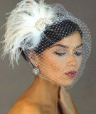 Ivory Crystal Rhinestone Brooch Fascinator Hair Clip  Vintage Style Bridal, I really love this!