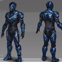 Combat Suit, Combat Armor, Robot Concept Art, Armor Concept, Cyberpunk Character, Cyberpunk Art, Fantasy Armor, Fantasy Weapons, Armadura Sci Fi