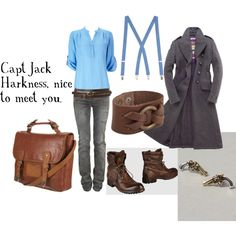 """Capt Jack Harkness"" by favourite-fictional-fashions on Polyvore"