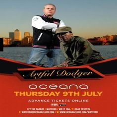 Oceana Presents Artful Dodger at Oceana, Watford, 127 The Parade, Watford, WD17 1NA, UK on Jul 09, 2015 to Jul 10, 2015 at 10:30pm to 3:30am, Our brand new Thursday brings you our second installment of great live entertainment with Artful Dodger!    Category: Nightlife  Price: £4.50