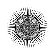 Mayan sun symbol, round tattoo ornament Vector Image – Vector illustration of Backgrounds, Textures, Abstract © lirch - Mayan Tattoos, Inca Tattoo, Sun Tattoos, Symbol Tattoos, Sleeve Tattoos, Tattoo Maori, Wiccan Tattoos, Thai Tattoo, Indian Tattoos