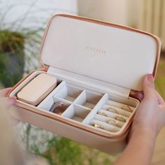 With a luxurious velvet lining and blush exterior, this is a must for your travels. Various internal compartments enable you to carry and protect your favourites pieces. Travel Jewellery Box, Jewellery Boxes, Jewelery, Jewelry Box With Lock, Jewelry Roll, Bank Holiday Sales, Velvet Material, Holiday Jewelry, Blushes