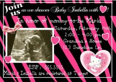 Baby Shower Invitations | Baby Shower Invitations | Pinterest | Babies, Shower  Invitations And Hello Kitty Baby