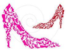 Shoe clipart, shoe silhouettes, digital clip art, high heels, stiletto, pumps, fashion illustration, printable, vector, instant download